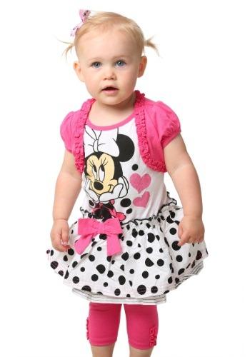 Minnie Mouse Ruffle Sleeve Tee & Leggings Set
