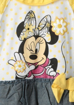 Minnie Mouse Girls Yellow Top & Leggings Set1