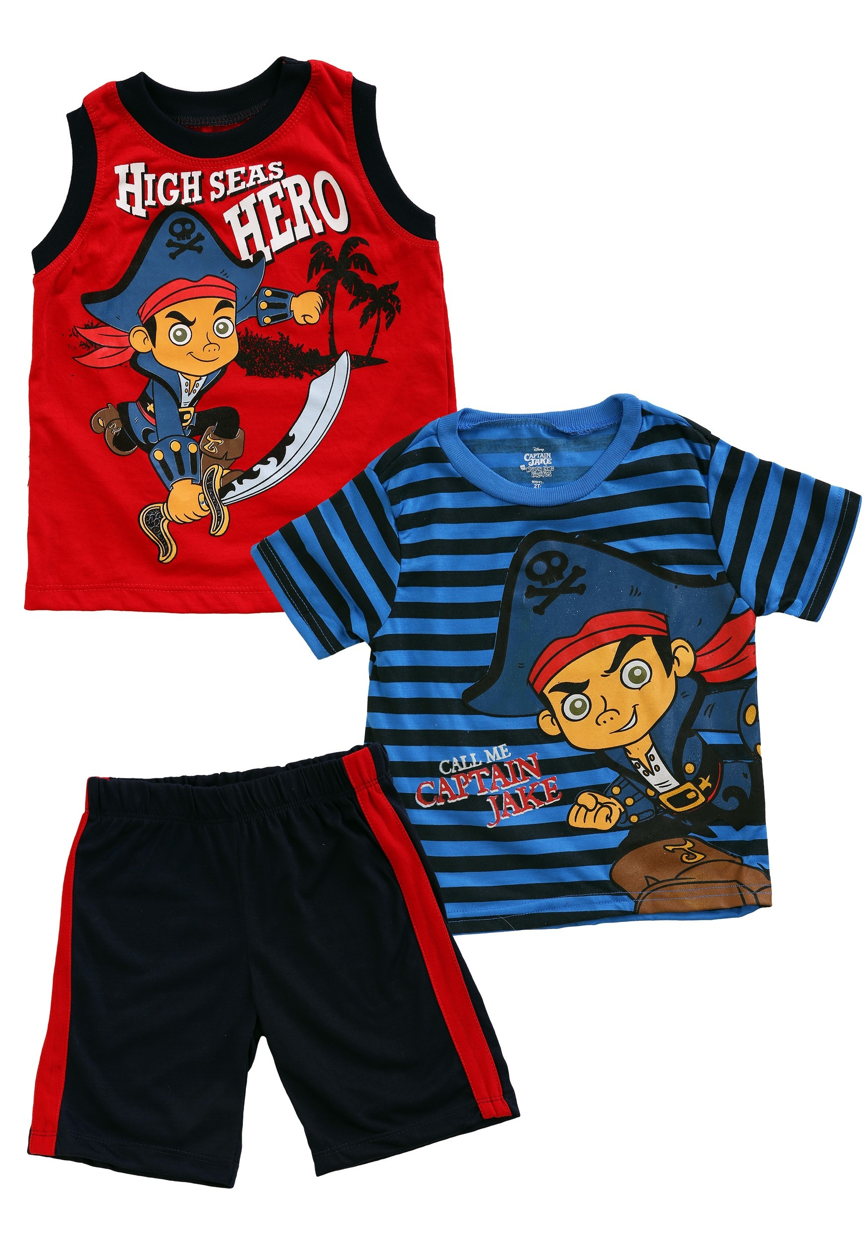 16c00b31f7ef Jake   the Neverland Pirates Toddler 3 Piece Muscle Tee Set