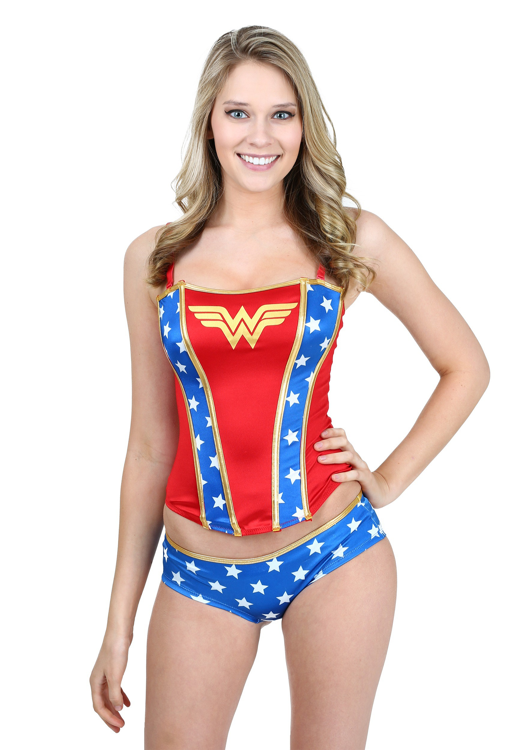 f9765f5b57 Wonder Woman Printed Corset And Panty Set