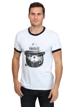 Smokey the Bear Black & White Ringer Tee