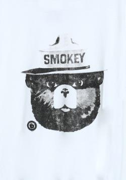 Smokey the Bear Black & White Ringer Tee2