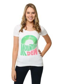 Mountain Dew Juniors Scoop Neck T-Shirt