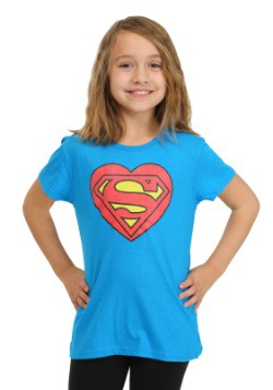 Supergirl Heart Logo Girls