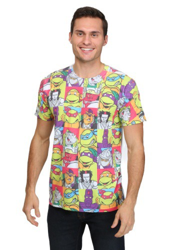 All-Over Cast TMNT Sublimated Men's T-Shirt