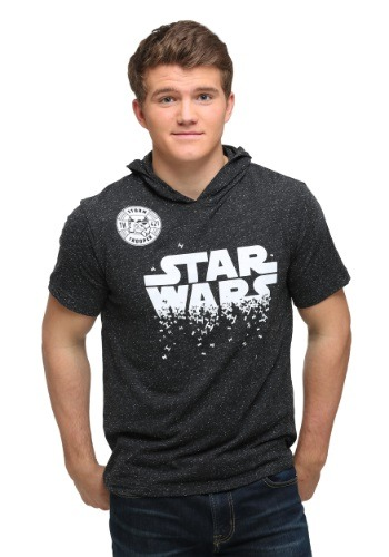 Star Wars Star Swarm Mens Shortsleeve Hooded Pullo