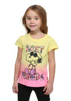 Peanuts Snoopy And Woodstock Toddler Girls Tee