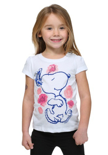 Peanuts Snoopy Flower Dancing Toddler Girls T-Shirt