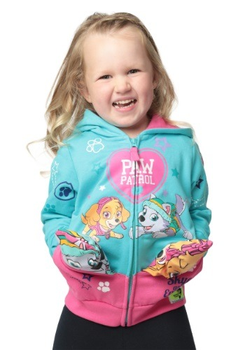 Paw Patrol Pocket Frenz Toddler Girls Hooded Sweatshirt