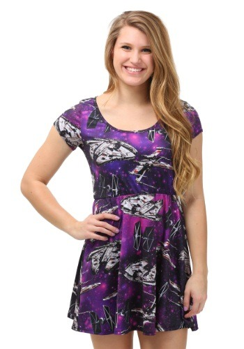 Star Wars Ship Cosmic Toss Skater Dress
