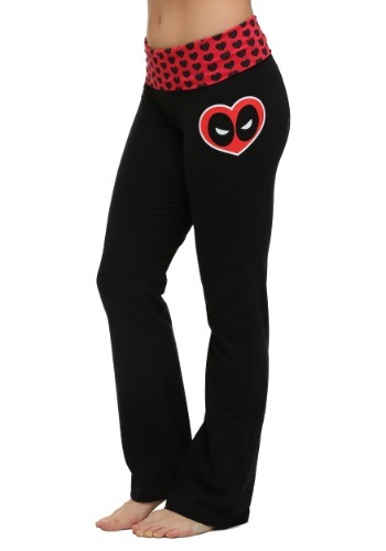 Deadpool Face Heart Yoga Pants