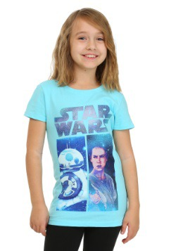 Star Wars Ep 7 BB8 & Rey Cancun Girls Tee