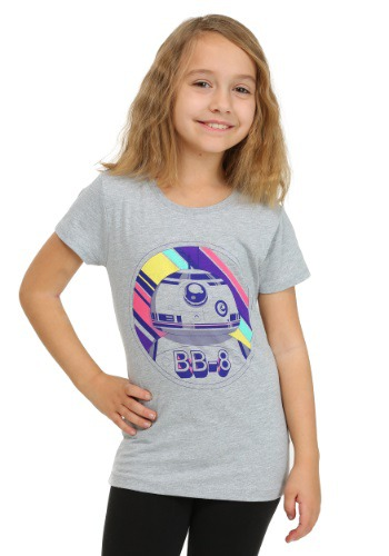 Star Wars Ep 7 BB8 Neon Background Heather Grey G