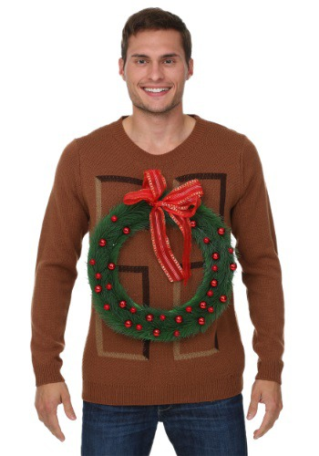 Christmas Wreath Door Sweater