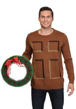 Christmas Wreath Door Sweater 1