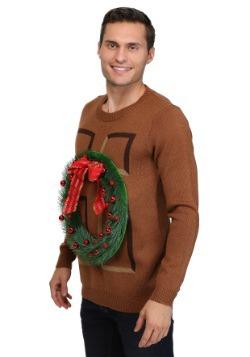 Christmas Wreath Door Sweater 3