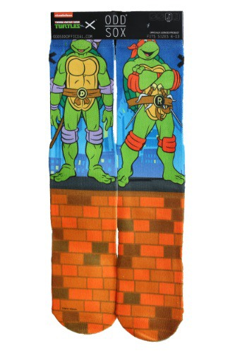 TMNT 4 Turtles Odd Sox