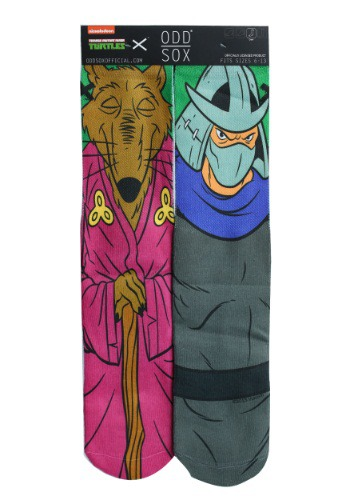 TMNT Splinter & Shredder Odd Sox