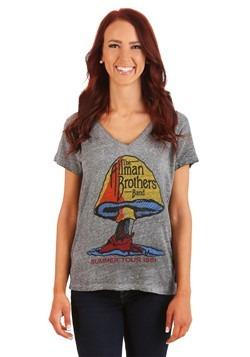 Allman Brothers Band Gray Triblend Burnout Juniors T-Shirt