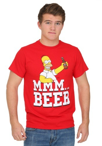 Simpsons Beer Me Mens T-Shirt