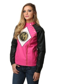 Power Rangers Pink Ranger Juniors Moto Jacket