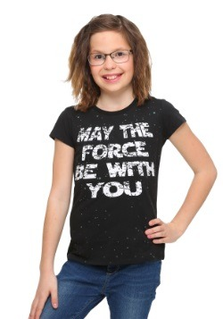 Star Wars May The Force Be With You Glitter Girls T-Shirt