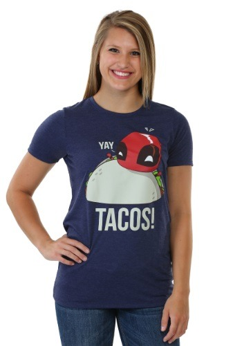 Deadpool Yay Tacos Juniors Boyfriend Tee
