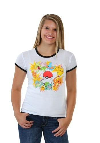 Pokemon Blasts Juniors Ringer Tee