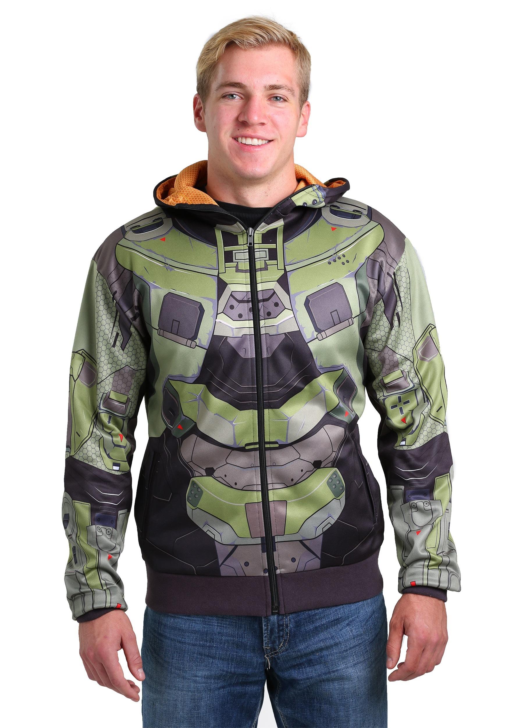 Halo Christmas Sweater.Adult Halo Master Chief Costume Hoodie