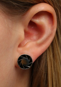 Portal 2 Aperture 80s Logo Earrings