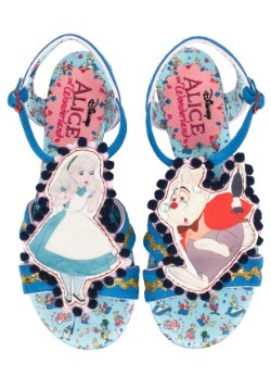 Alice In Wonderland Time Is Ticking Womens Flats