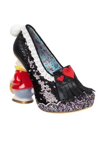Alice In Wonderland White Rabbit And Hearts Womens Heel