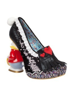 Alice In Wonderland White Rabbit And Hearts Womens Heel