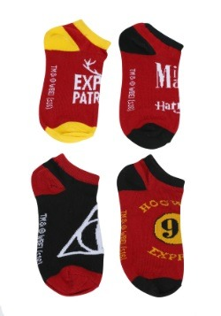 Harry Potter Quidditch Ankle Sock 4 Pack
