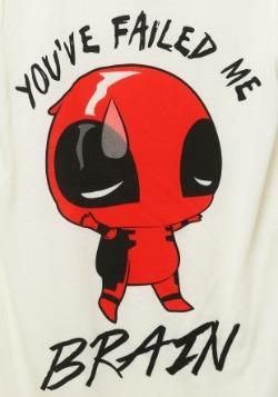 Deadpool Brains Failed Juniors Fashion Tee