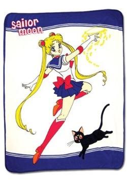 Sailor Moon and Luna Throw Blanket