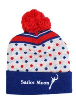 Sailor Moon Knit Hat with Pompom