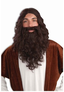 Mens Biblical Wig and Beard Set