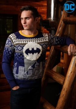 Batman Bat Signal Holiday Sweater