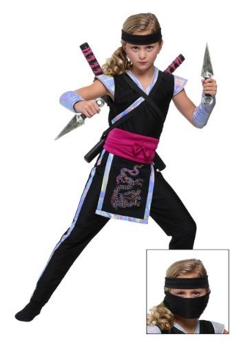 Rainbow Ninja Girls Costume