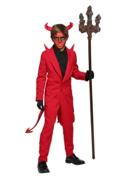 Kids Red Suit Devil Costume