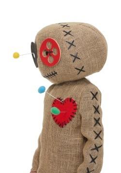 Kid's Burlap Voodoo Doll Costume2