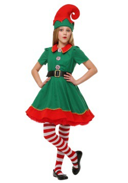 Girls Holiday Elf Costume