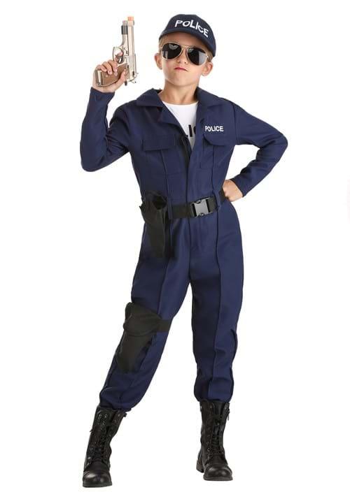 Tactical Cop Jumpsuit Girls Costume