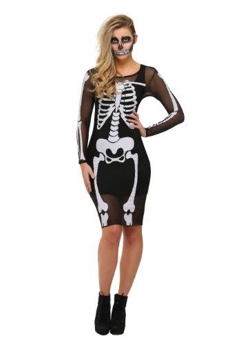 Womens Mesh Skeleton Dress