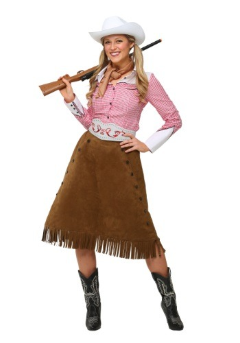Plus Size Rodeo Cowgirl Womens Costume