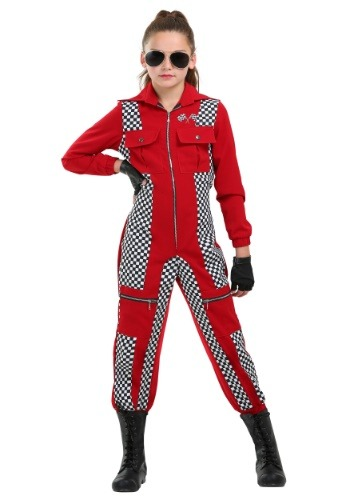 Girl's Racer Jumpsuit Costume
