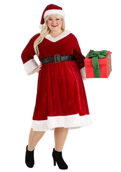 Womens Santa Claus Sweetie Plus Size Costume