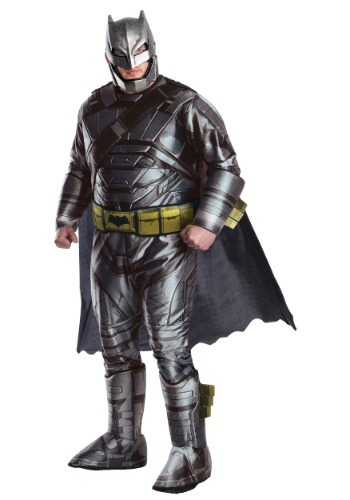 Plus Size Men's Deluxe Dawn of Justice Armored Batman