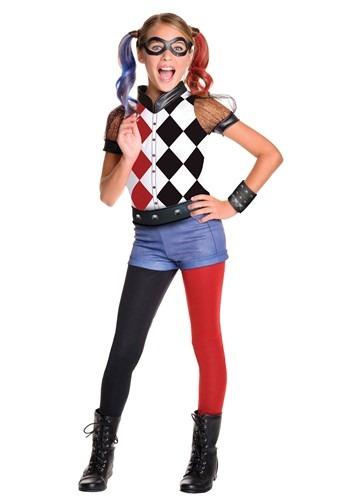 Girls DC Superhero Deluxe Harley Quinn Costume
